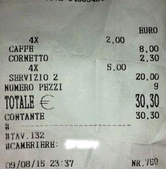 Ischia, da IsolaVerde a IsolaCara: quattro caffè e un cornetto 30 euro